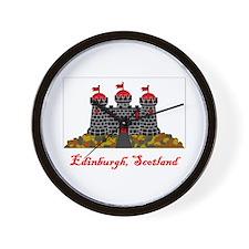 Edinburgh Scotland Flag Wall Clock