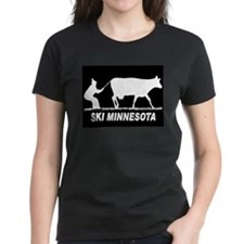 SKI MINNESOTA BLACK T-Shirt