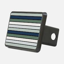 Multicolored Stripes: Blue Hitch Cover