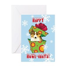 Holiday Sheltie Greeting Card