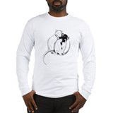 Rat Long Sleeve White T-Shirts