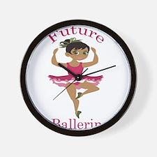 Ballerina (Black) Wall Clock