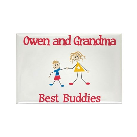 Owen & Grandma - Buddies Rectangle Magnet (10 pack