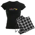 I Love Track Hoes Women's Dark Pajamas