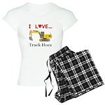 I Love Track Hoes Women's Light Pajamas