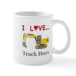 I Love Track Hoes Mug