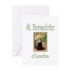 St. Bernadette of Lourdes Greeting Card