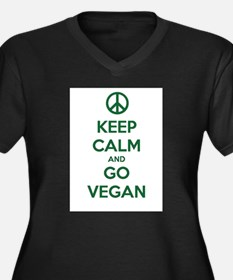 Keep Calm and GO VEGAN Plus Size T-Shirt