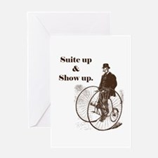 Suite Up and Show Up Greeting Cards
