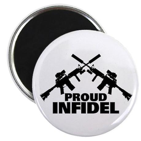 "Proud Infidel 2.25"" Magnet (100 pack)"