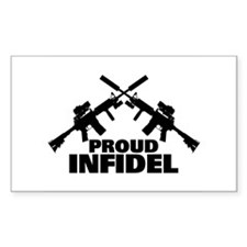 Proud Infidel Rectangle Decal