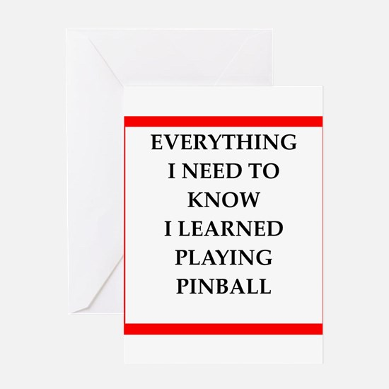 pin ball joke on gifts and t-shirts. Greeting Card