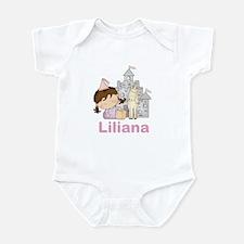Laura's Purple Princess Infant Bodysuit