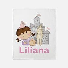 Laura's Purple Princess Throw Blanket