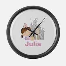 Julia's Purple Princess Large Wall Clock