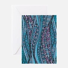 Abstract Waves Greeting Cards