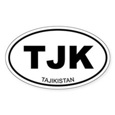 Tajikistan Oval Decal