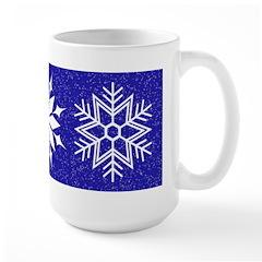 Blue Christmas Large Mug
