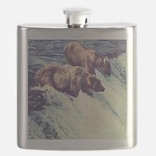 Bears Fishing Flask