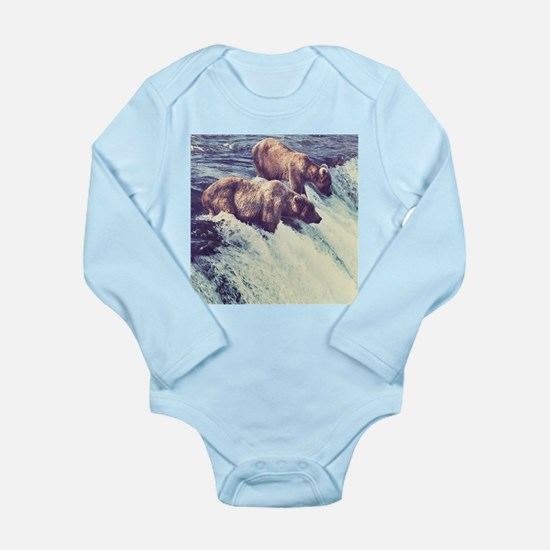 Bears Fishing Body Suit
