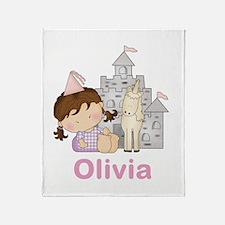 Olivia's Purple Princess Throw Blanket