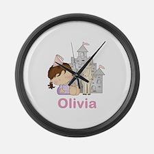 Olivia's Purple Princess Large Wall Clock