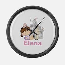 Elena's Purple Princess Large Wall Clock