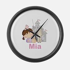 Mia's Purple Princess Large Wall Clock