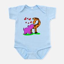 Giraffe hippo love Body Suit