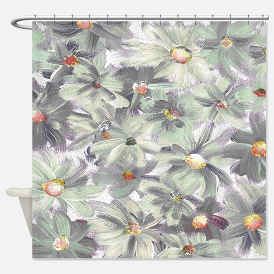 Painted Flowers Shower Curtain