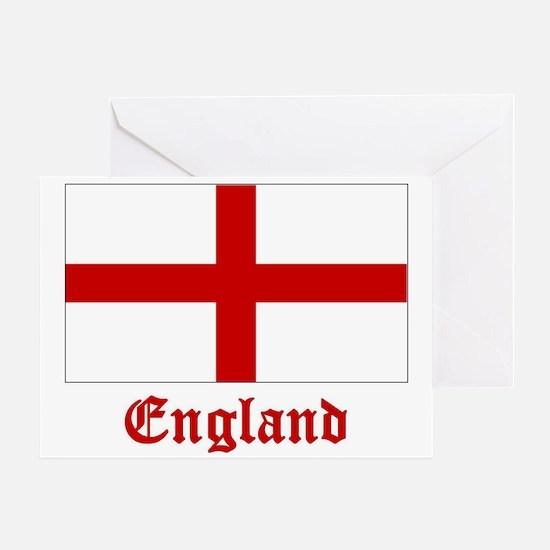 England Flag Greeting Card