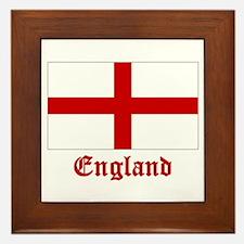 England Flag Framed Tile