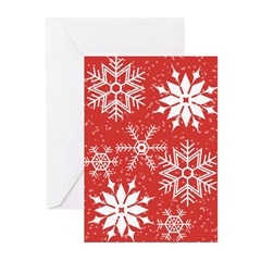 Snowflakes Greeting Cards (Pk of 20)