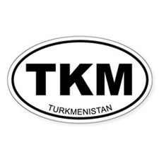 Turkmenistan Oval Decal