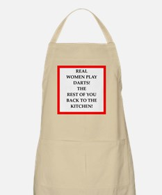 real women sports and gaming joke Apron