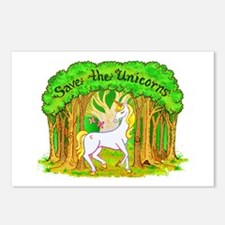 Save the Unicorns Postcards (Package of 8)