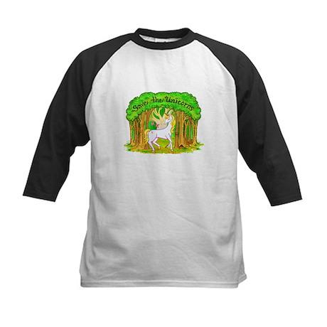 Save the Unicorns Kids Baseball Jersey