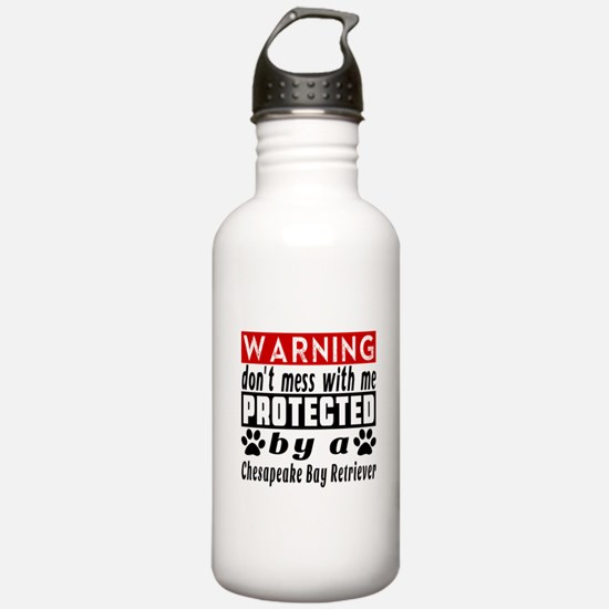 Protected By Chesapeak Sports Water Bottle
