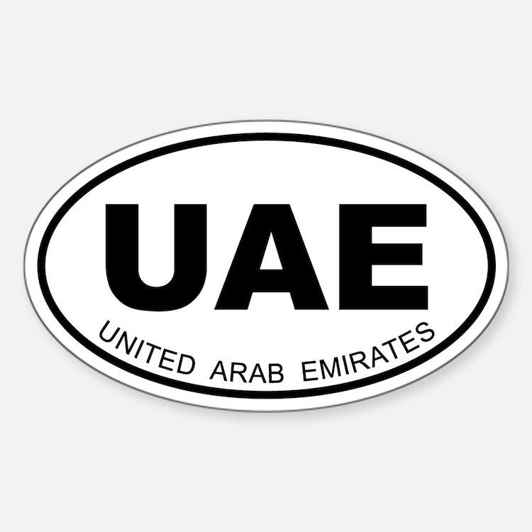 United Arab Emirates Oval Decal