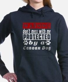 Protected By Canaan Dog Women's Hooded Sweatshirt