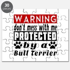 Protected By Bull Terrier Dog Puzzle