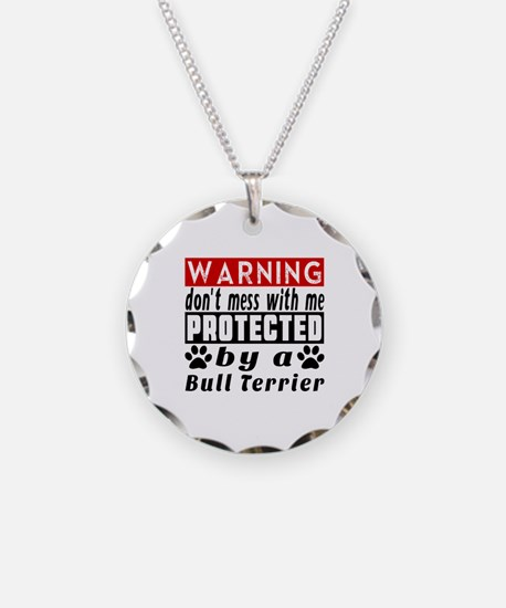 Protected By Bull Terrier Do Necklace Circle Charm