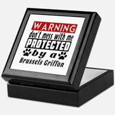 Protected By Brussels Griffon Dog Keepsake Box