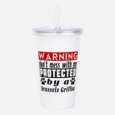 Protected By Brussels Acrylic Double-wall Tumbler