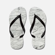 abstract chic white marble Flip Flops
