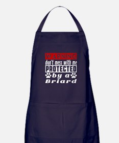 Protected By Briard Dog Apron (dark)