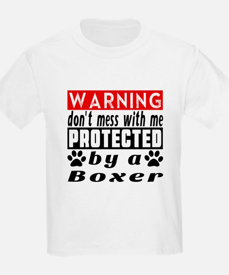 Protected By Boxer Dog T-Shirt