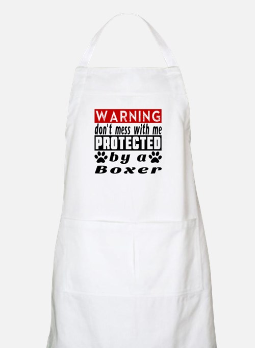 Protected By Boxer Dog Apron