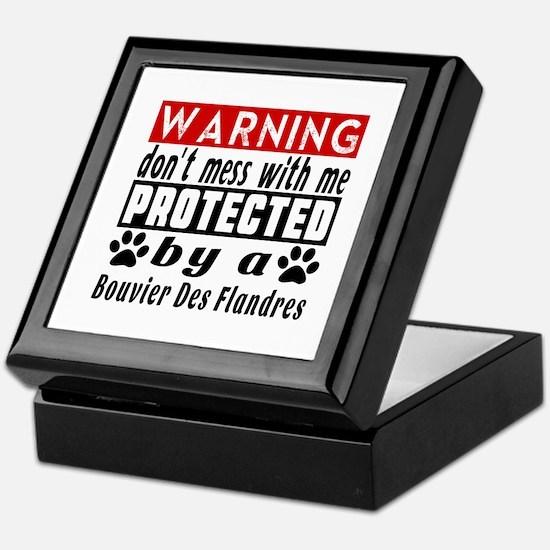 Protected By Bouvier Des Flandres Dog Keepsake Box