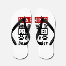 Protected By Boston Terrier Dog Flip Flops
